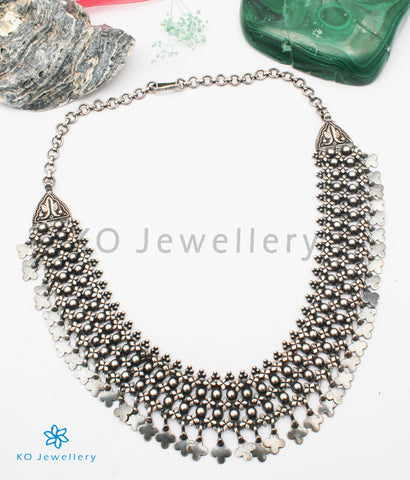 The Aadya Antique Silver Necklace