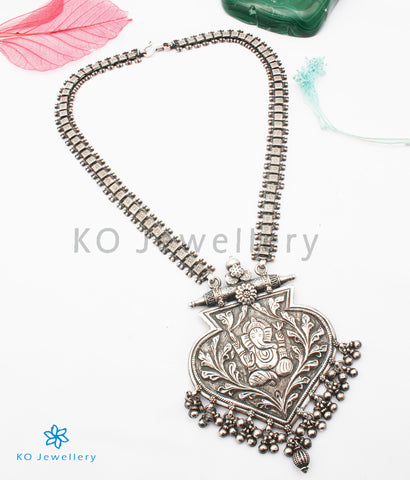 The Ekadanta Antique Silver Ganesha Necklace