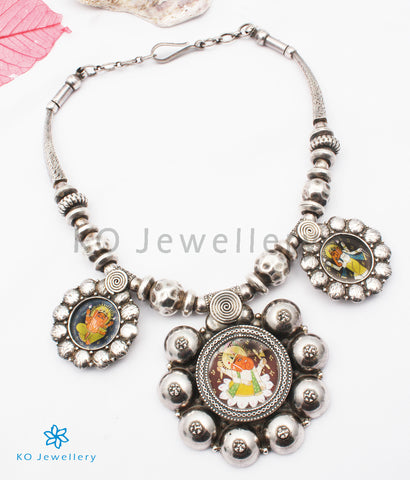 The Devavat Antique Silver Ganesha Necklace