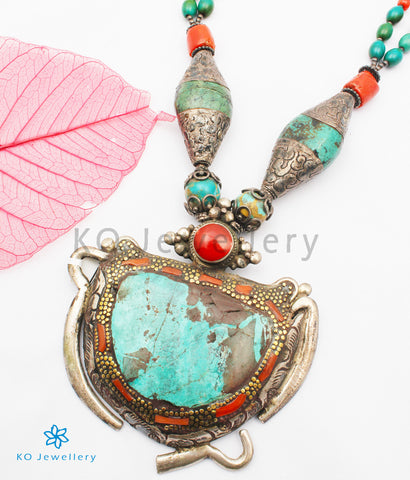 The Bohemian Turquoise Antique Silver Necklace