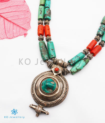 The Yashodhara Turquoise Antique Silver Necklace