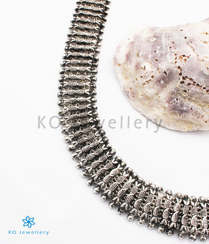 The Pradhva Silver Necklace/Waistbelt (Oxidised)
