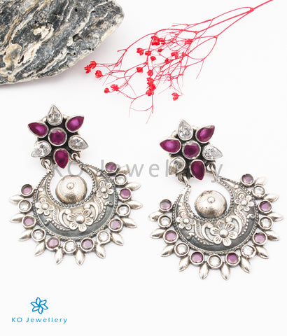 The Abhishi Silver Gemstone Earrings
