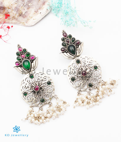 The Gandhara Silver Earrings
