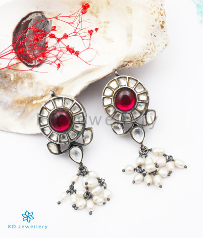 The Inayat Silver Kundan Earrings