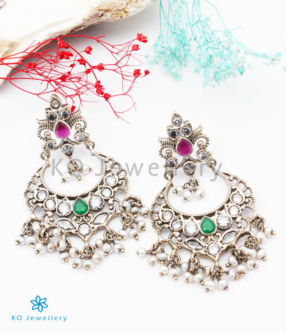 The Iksha Silver Kempu Earrings