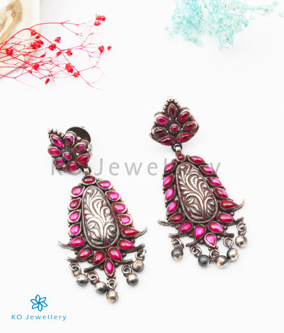 The Ketaki Silver Kempu Earrings
