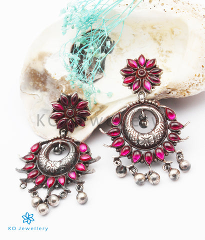 The Sreejata Silver Kempu Earrings