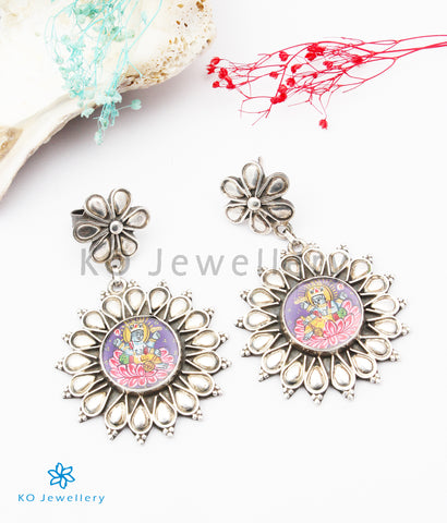 The Abhima Silver Hand painted Earrings