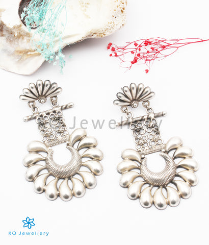 The Dharini Silver Earrings