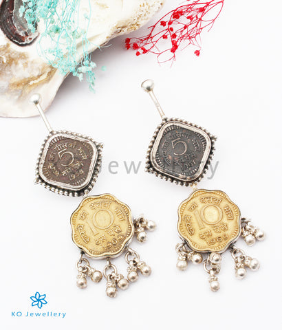 The Antique-Coin Silver Earrings
