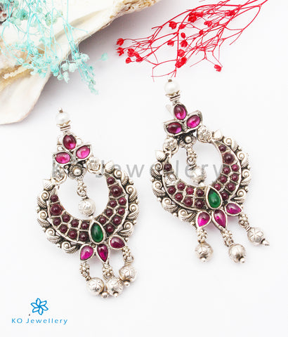 The Sattva Silver Kempu Earrings