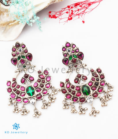 The Mrudula Silver Kempu Earrings