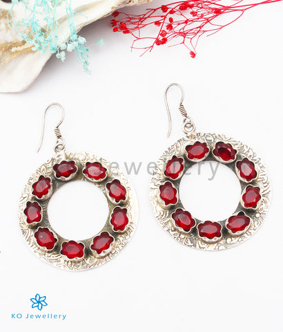 The Nistala Silver Gemstone Earrings