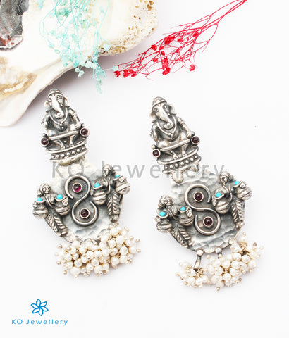 The Kshipra Silver Ganesha Earrings
