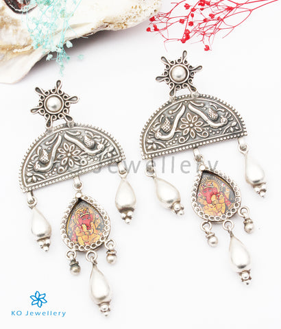 The Dvijapriya Silver Ganesha Earrings