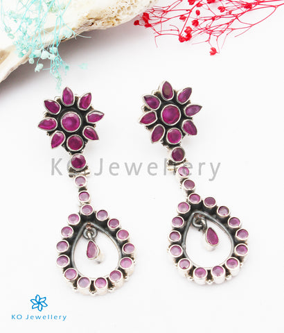 The Avantika Silver Gemstone Earrings