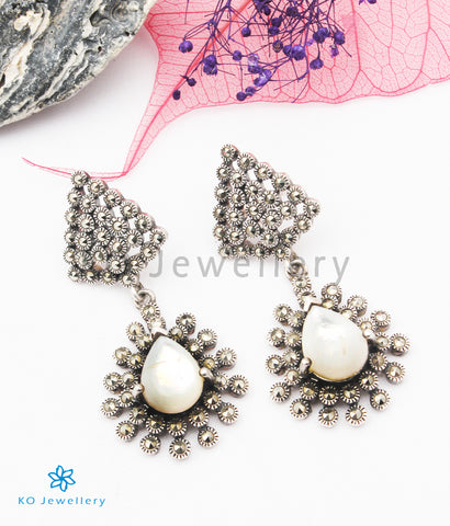 The Tessa Silver Marcasite Earrings
