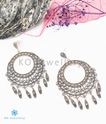 The Sparkle Silver Marcasite Earrings