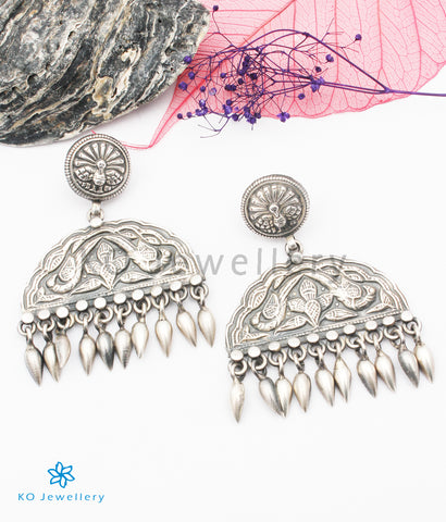 The Rajaka Silver Parrot Earrings