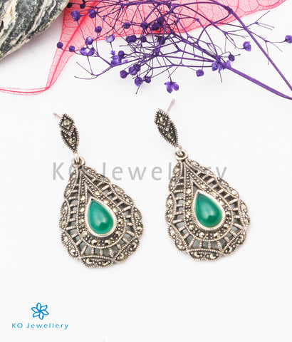 The Ziva Silver Marcasite Earrings