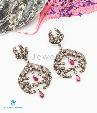 The Olivia Silver Marcasite Earrings
