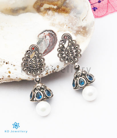 The Amelia Silver Marcasite Earrings