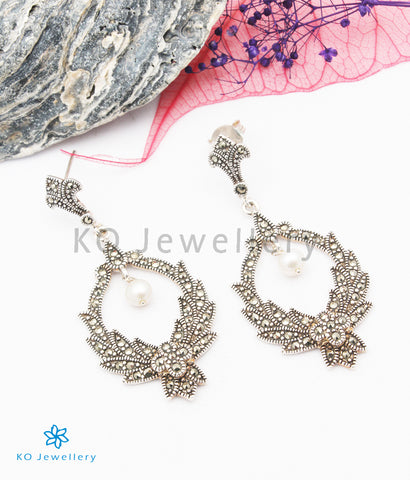 The Emily Silver Marcasite Earrings