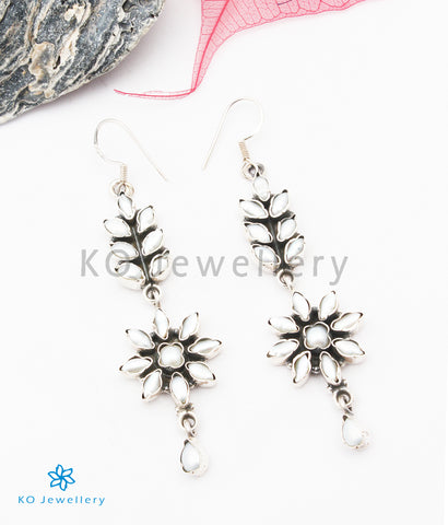 The Basant Silver Gemstone Earrings (pearl)