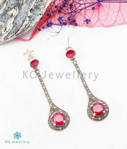 The Kate Silver Marcasite Earrings