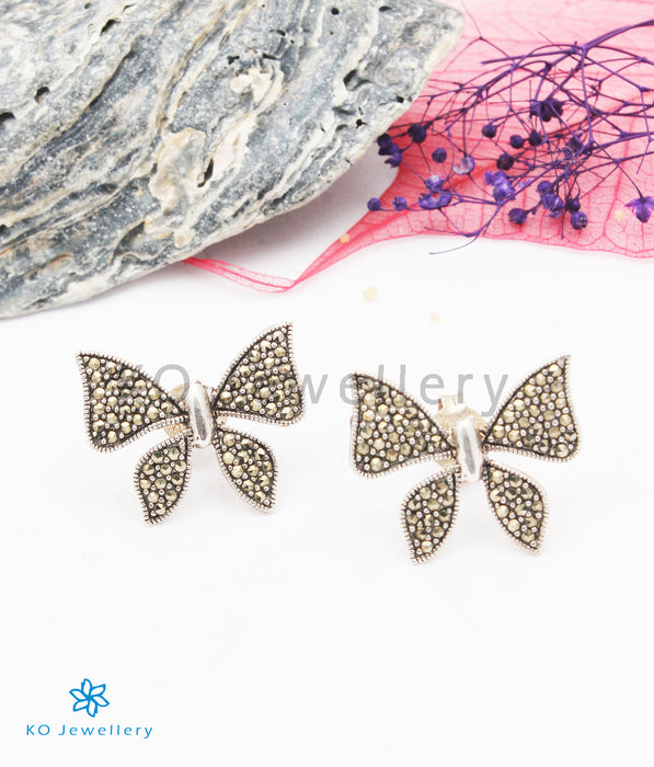 The Sparkling Wings Silver Marcasite Earrings