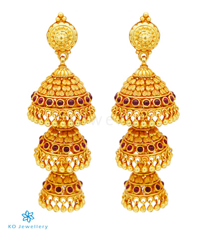 The Kalapin Silver Layered Jhumka