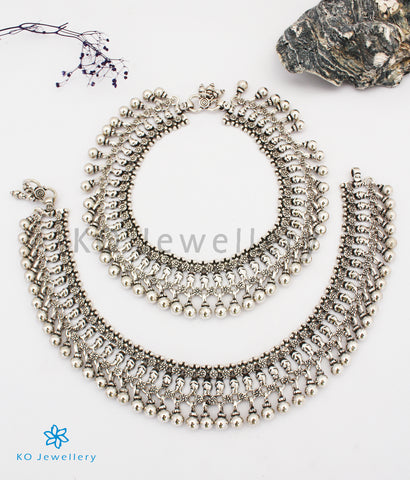 The Madhurya Silver Bridal Anklets