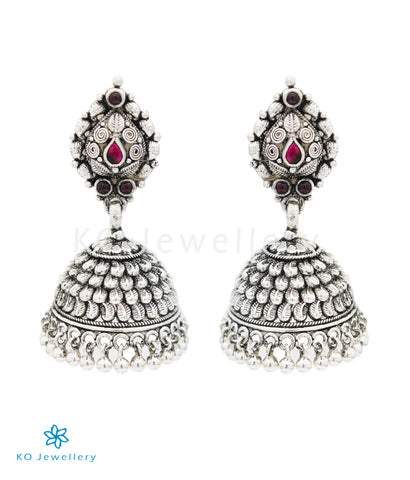 The Lipika Silver Kemp Jhumka (Oxidised)