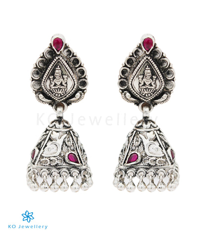 The Ipshita Silver Lakshmi Jhumka (Oxidised)