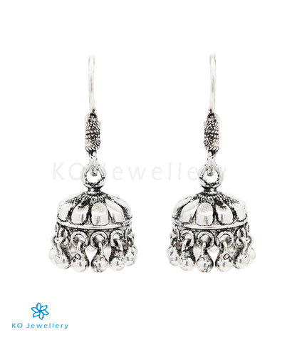 The Mandira Silver Jhumka(Oxidised)