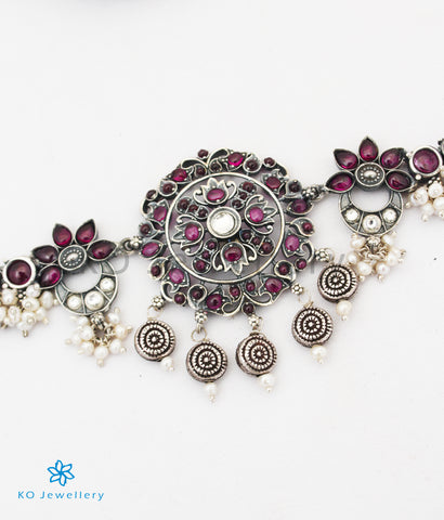 The Basant Silver Choker Necklace