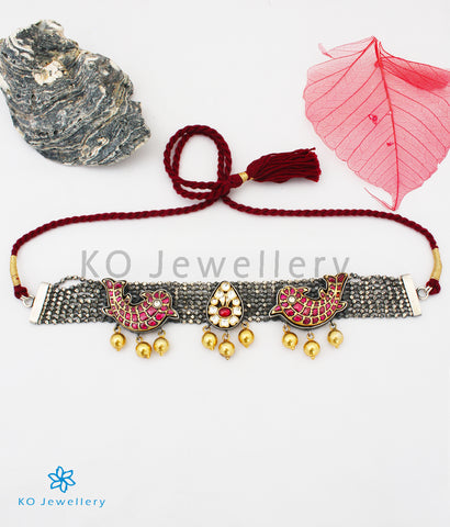 The Jalika Silver Jadau Necklace