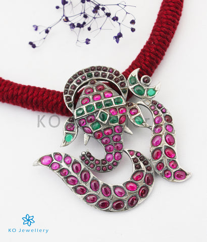 The Mandaka Silver Ganesha Necklace