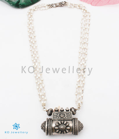 The Purvika Silver Antique Amulet Necklace