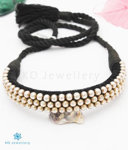 The Vidhi Silver Maharastrian Tussi Necklace