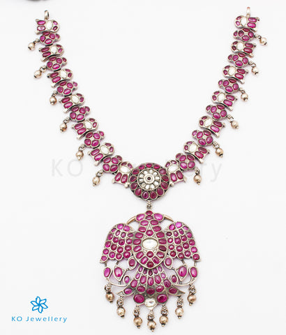 The Vasuda Silver Gandaberunda Necklace
