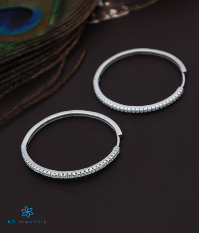 The Diya Silver Hoops (Large)