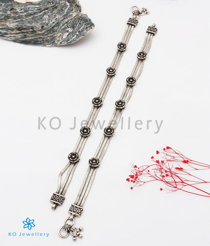 The Amogh Silver Bridal Anklets