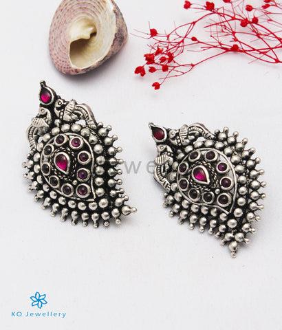 The Prashanti Silver Earstuds (Oxidised)