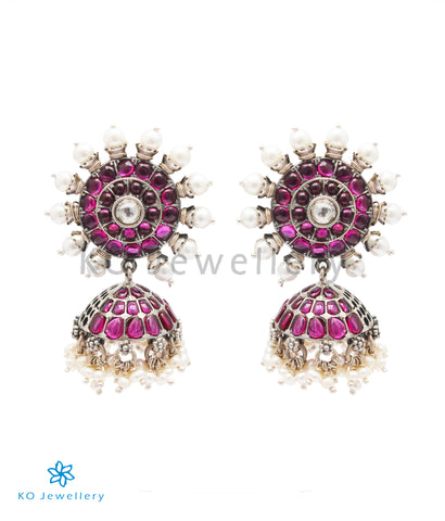 The Nimisha Silver Jhumka
