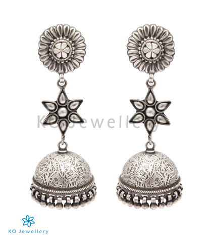 The Vartula Silver Jhumka
