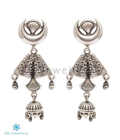 The Nainika Silver Jhumka