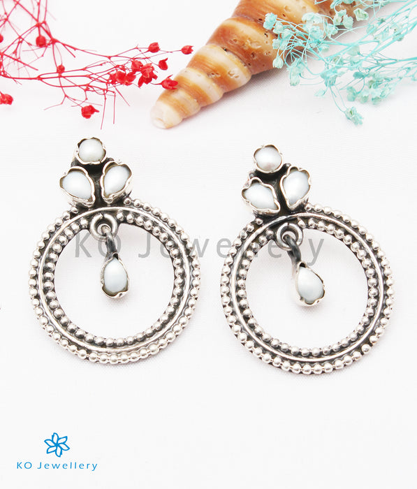 The Giva Silver Gemstone Earrings (Pearl)