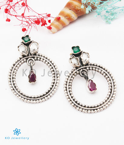 The Giva Silver Gemstone Earrings (Multicolour)